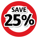Save 25% on all labour services